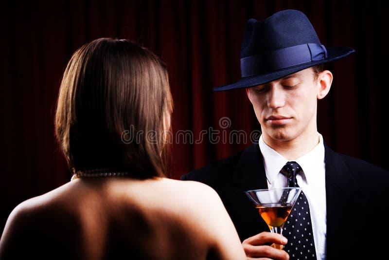 Detektiv und reizend Frau lizenzfreies stockbild