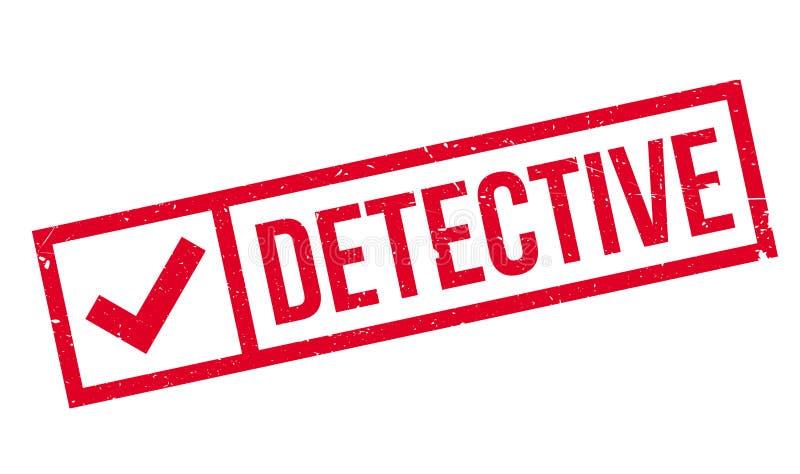 Detektivstempel stock abbildung