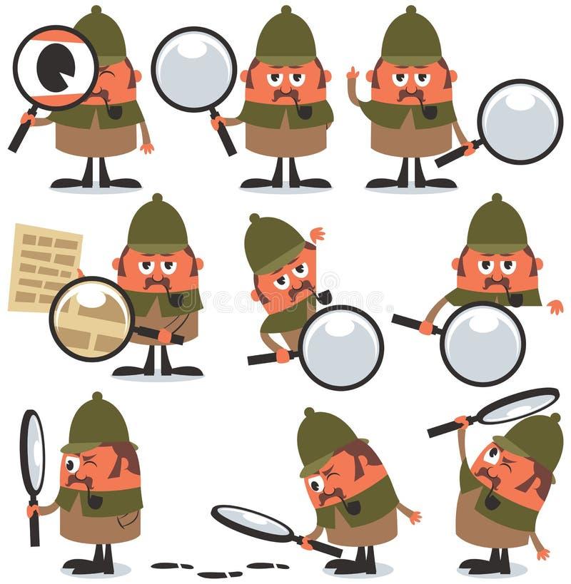 Detektyw paczka royalty ilustracja