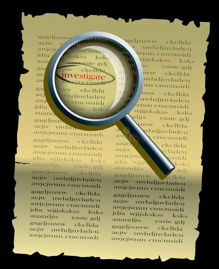 detektyw prowadzi dochodzenie ilustracja wektor
