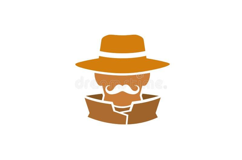 Detektywa szeryfa Kierowniczy logo royalty ilustracja