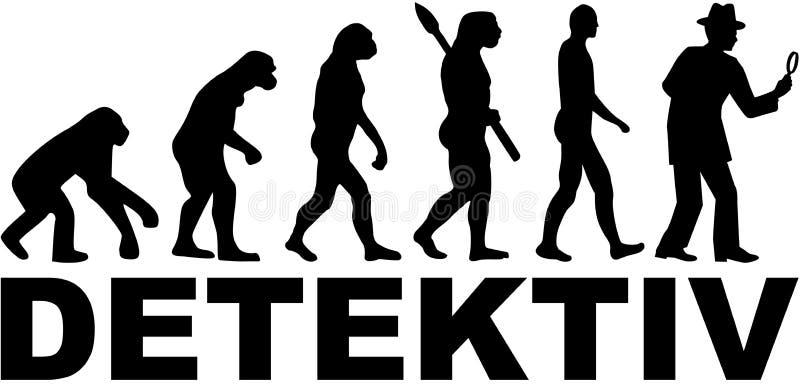 Detektywistyczna ewolucja z niemieckim słowem royalty ilustracja