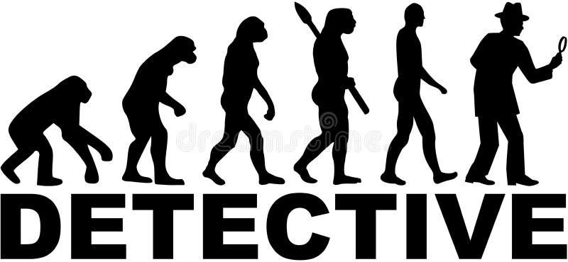 Detektywistyczna ewolucja z słowem royalty ilustracja