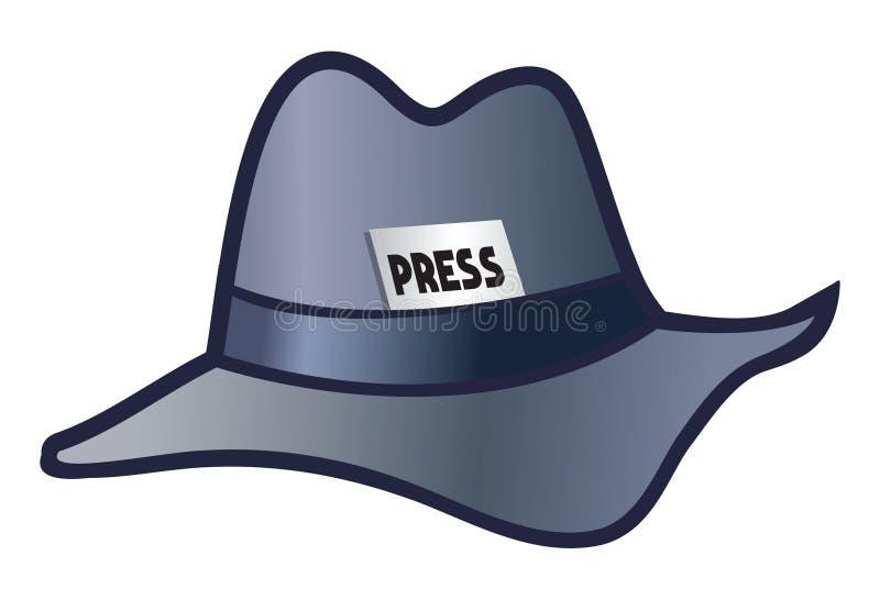 detektywistyczny kapelusz royalty ilustracja