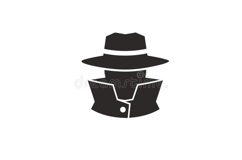 Detektywistyczny Ludzkiej głowy logo ilustracja wektor