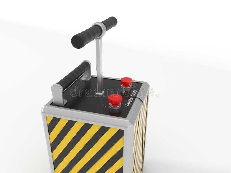 Detenator da dinamite ilustração 3D ilustração do vetor