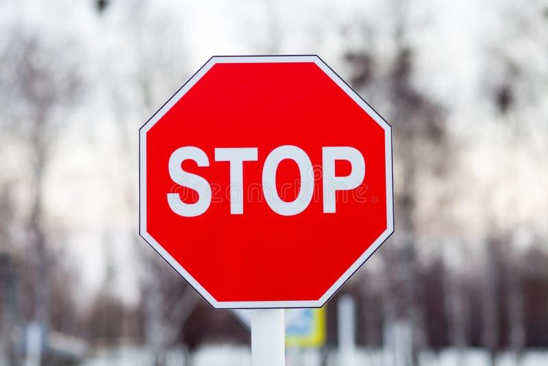 Detener signo de tráfico fotos de archivo libres de regalías