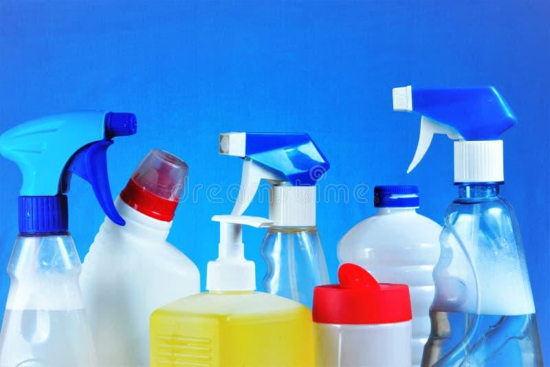 Detergens van nevel, gel, zeep, waspoeder - sanitaire restauratie van netheid Handhaaf veilige hygiëne, verwijder binnen vuil royalty-vrije stock foto