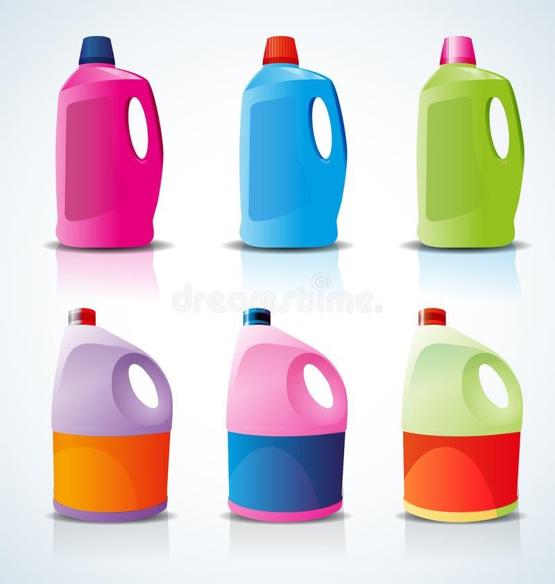 Detergent bottle royalty free illustration