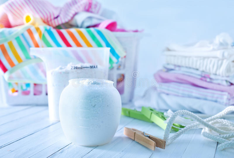 Detergent. For a laundry washer royalty free stock photography