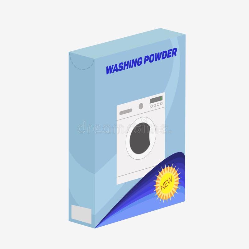 Detergente do pó ou ícone de lavagem fotos de stock royalty free