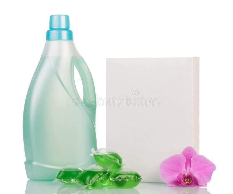 Detergente en blanco foto de archivo