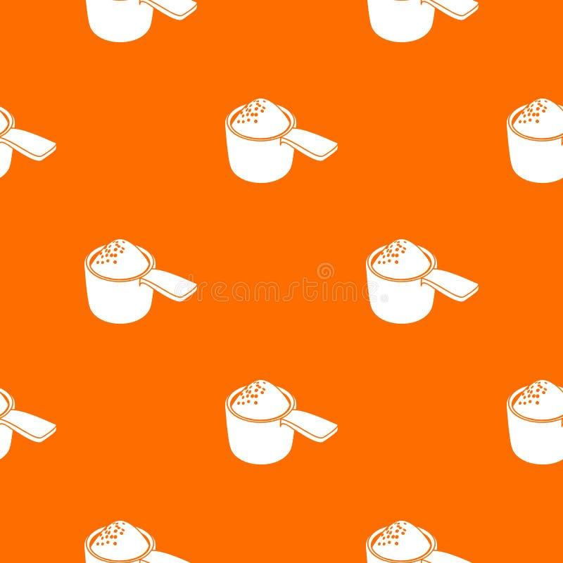 Detergentowa dawka wzoru wektoru pomarańcze ilustracja wektor