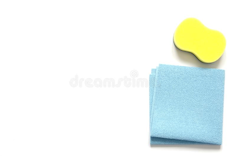 Detergents and cleaning accessories. Cleaning service, small business idea, spring cleaning concept. stock image