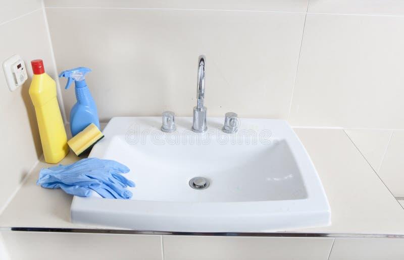 Detergentu i obmycia basen zdjęcia stock