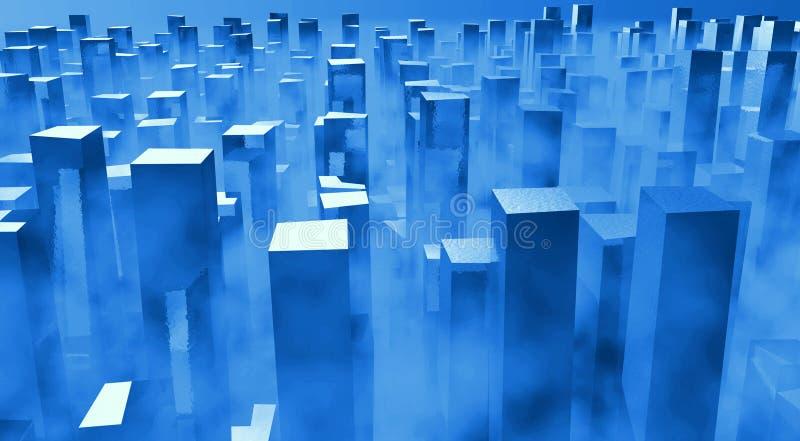 Deterioração Mystical da cidade ilustração stock