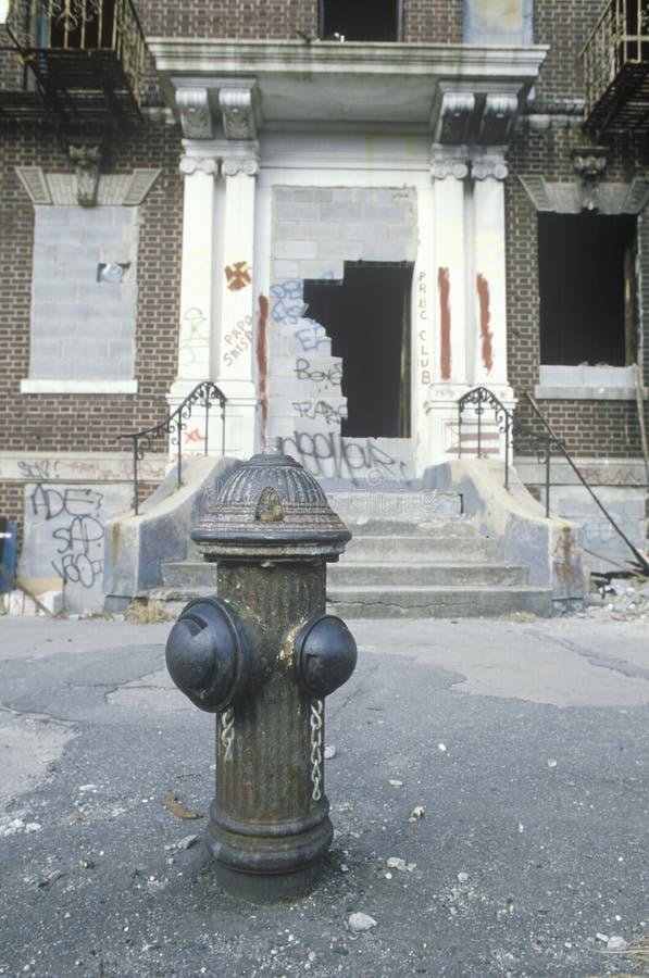 Deterioração urbana de centro urbano fotografia de stock