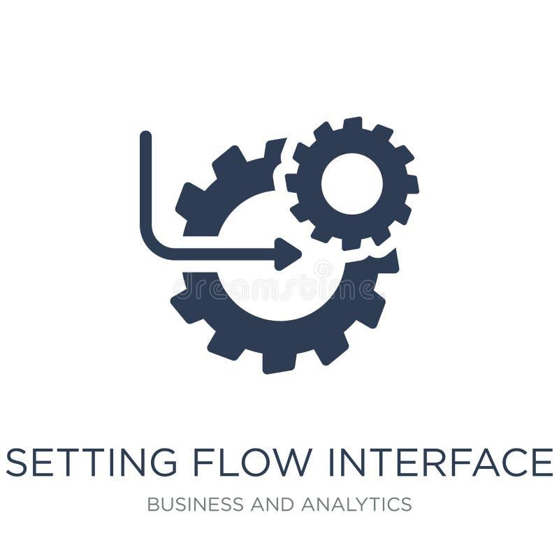 Determinación del icono del símbolo del interfaz del flujo Vector plano de moda que fija f libre illustration