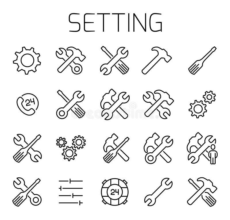 Determinación del sistema relacionado del icono del vector libre illustration