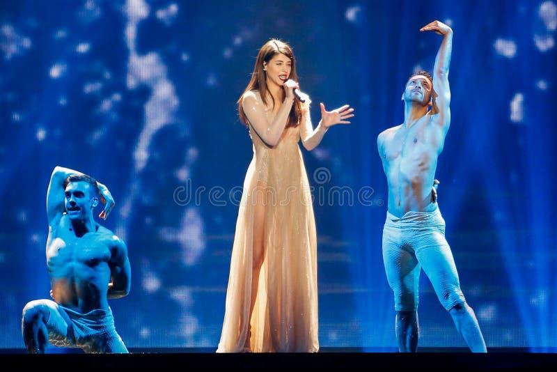 Determinado formato de papel de Grécia Eurovision 2017 imagem de stock royalty free