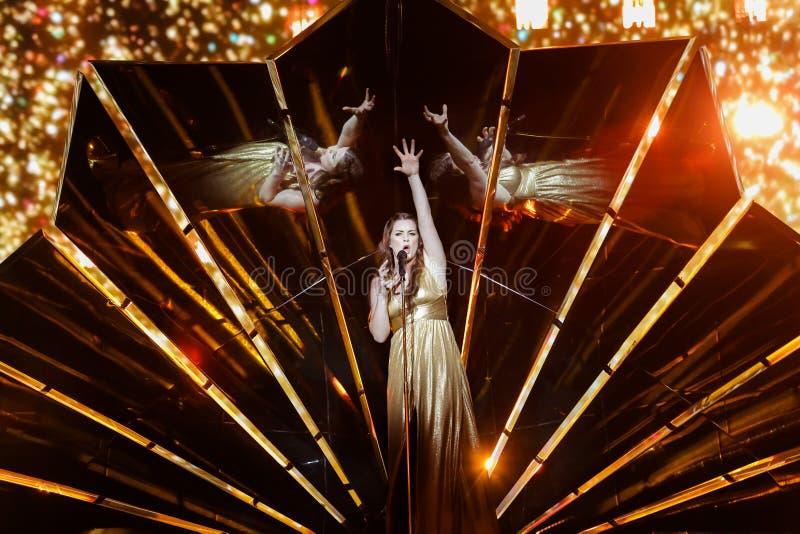 Determinado formato de papel de Grécia na competição de música de Eurovision imagens de stock