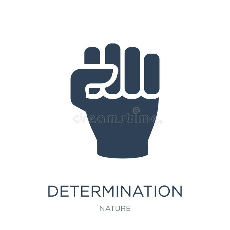 determination icon in trendy design style. determination icon isolated on white background. determination vector icon simple and stock illustration