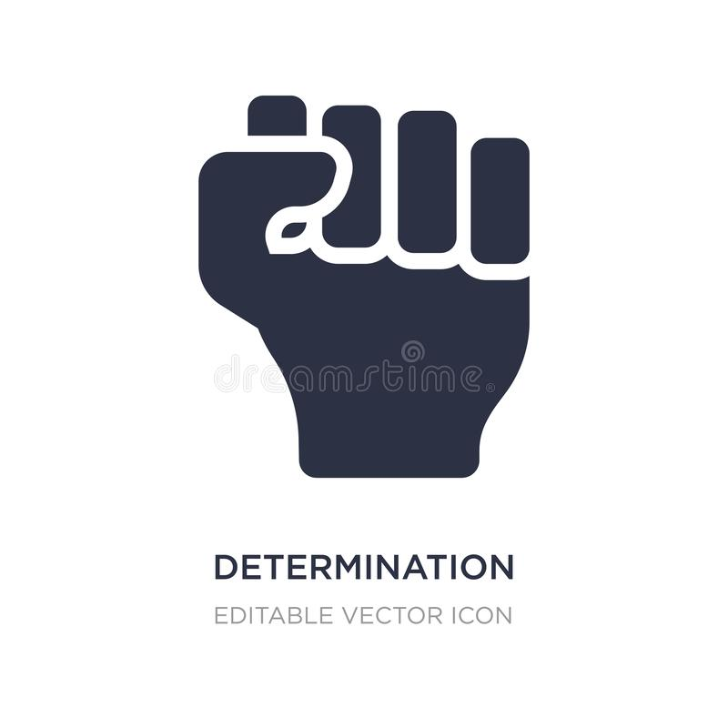 Determination icon on white background. Simple element illustration from Nature concept. Determination icon symbol design vector illustration