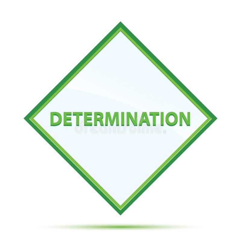 Determination modern abstract green diamond button. Determination Isolated on modern abstract green diamond button stock illustration