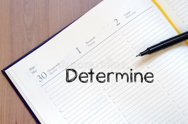 Determine escreve no caderno fotos de stock royalty free