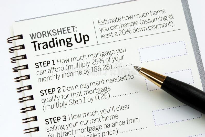 Determine a quantidade de hipoteca fotos de stock royalty free