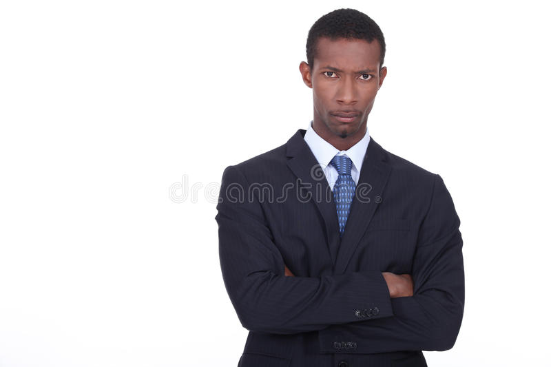 Determined Businessman Royalty Free Stock Image