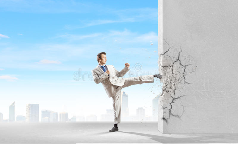 Determined businessman royalty free stock photography