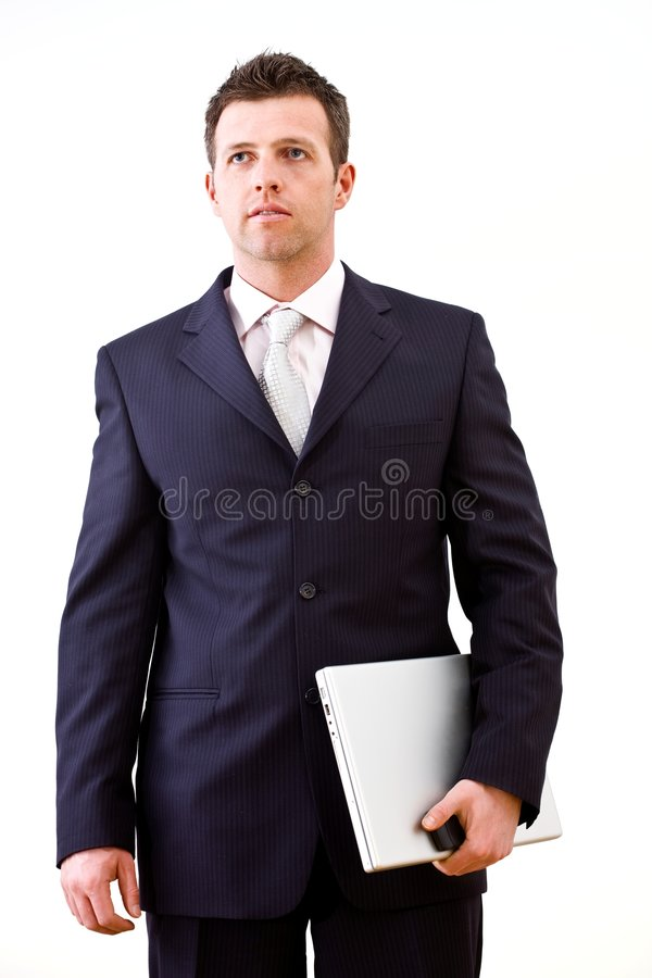 Determined businessman isolated stock photos