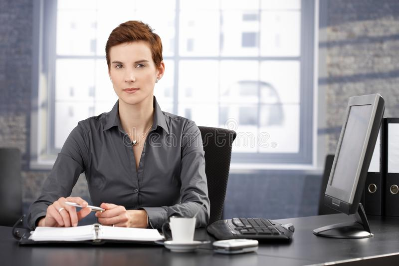 Determined Businesswoman At Work Stock Photography