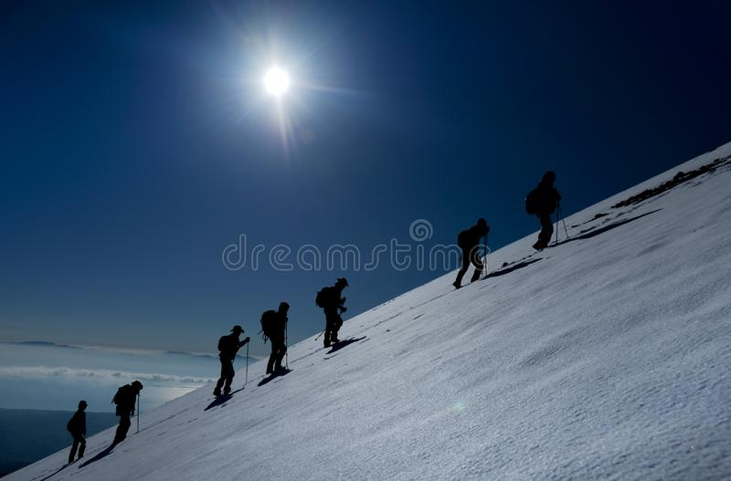 Determined people despite difficulties. Struggle, passion, sport and success royalty free stock image