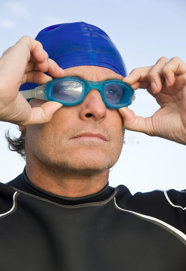 Download Determined triathlete. stock image. Image of aspire, color - 11330891