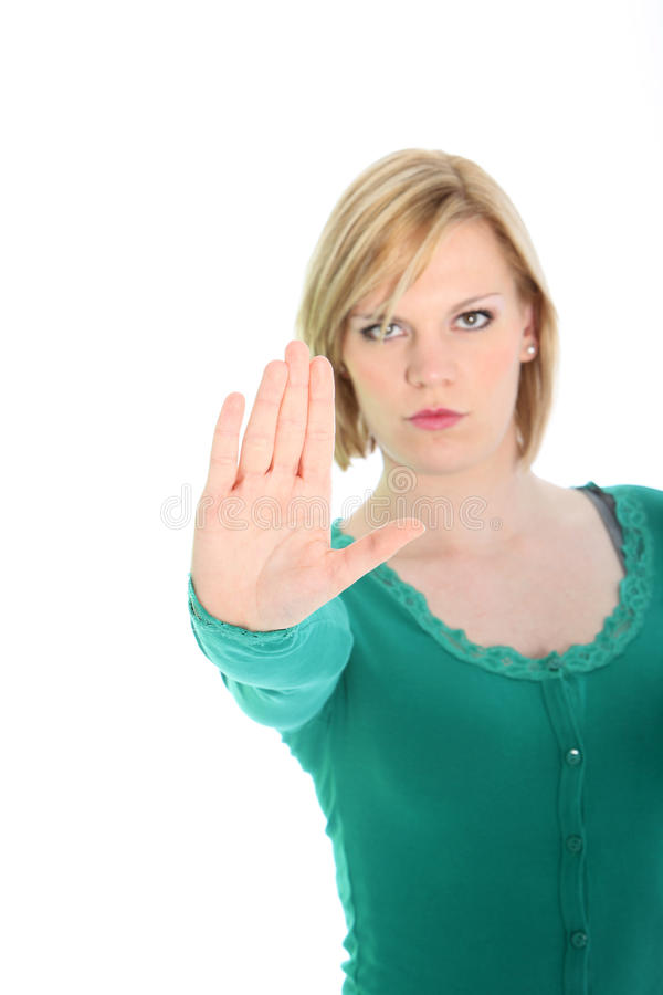 Download Determined Woman Calling A Halt Stock Photo - Image: 27440678