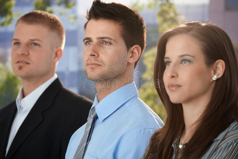 Determined and young businesspeople royalty free stock images