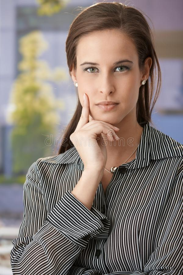 Determined Young Businesswoman Royalty Free Stock Images
