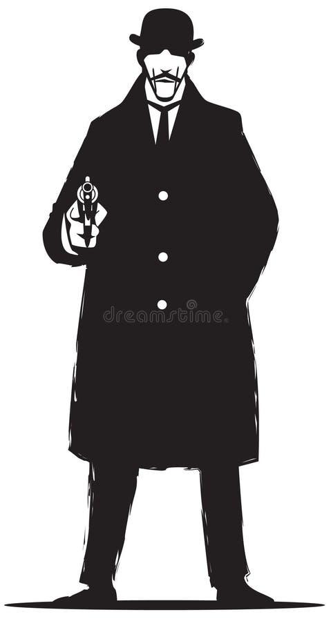 Detetive confidencial ilustração royalty free