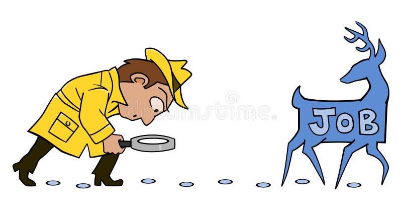 Detetive da caça de trabalho ilustração stock