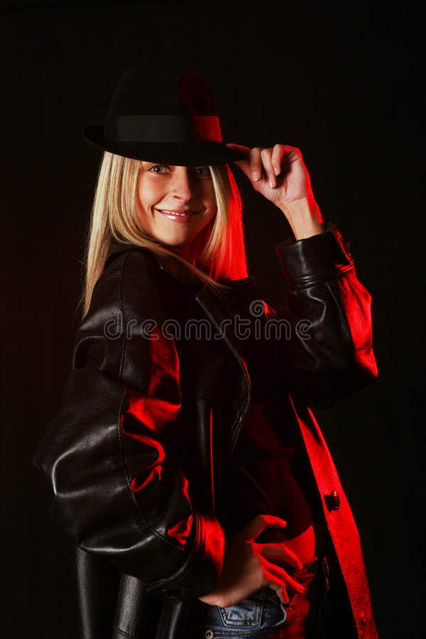 Detetive fêmea fotografia de stock