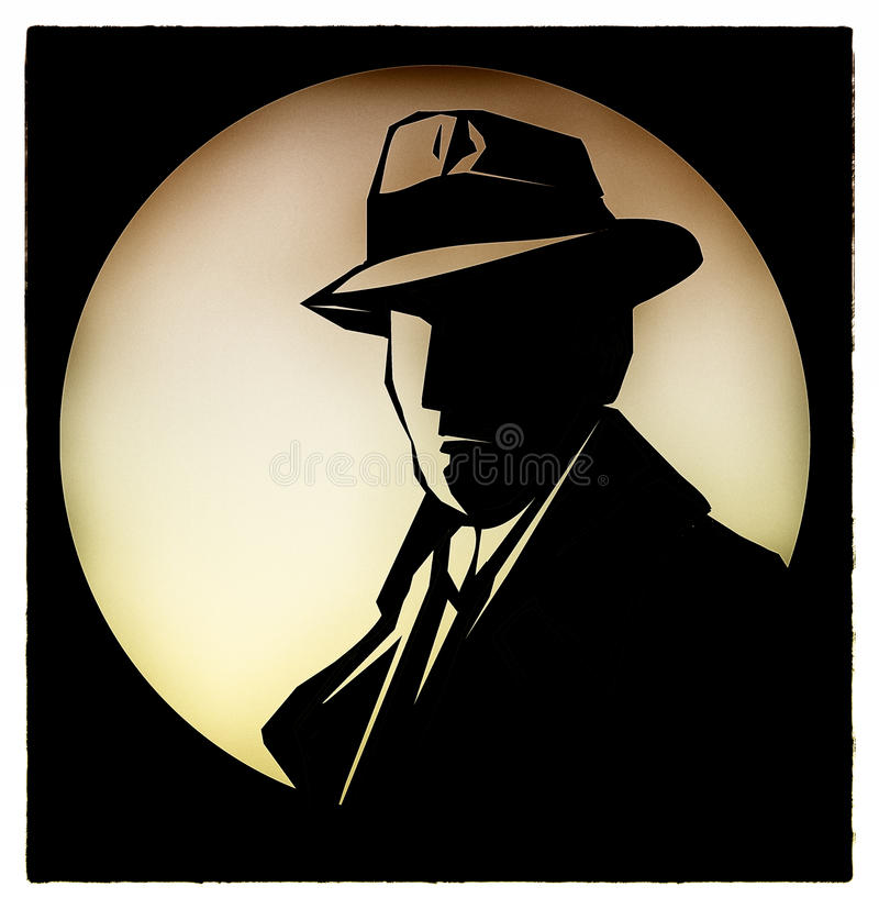 Detetive Sherlock Holmes Cartoon ilustração royalty free