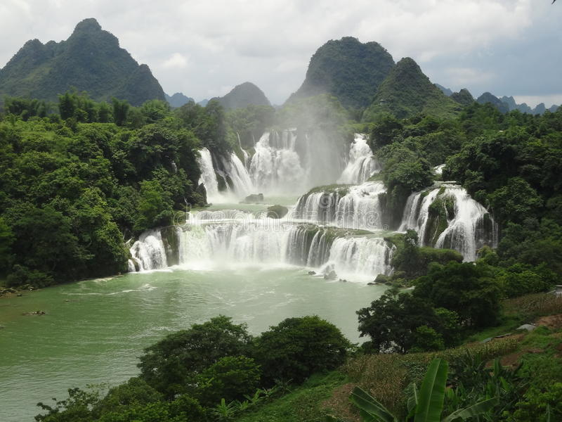 Detian瀑布中国 免版税库存照片