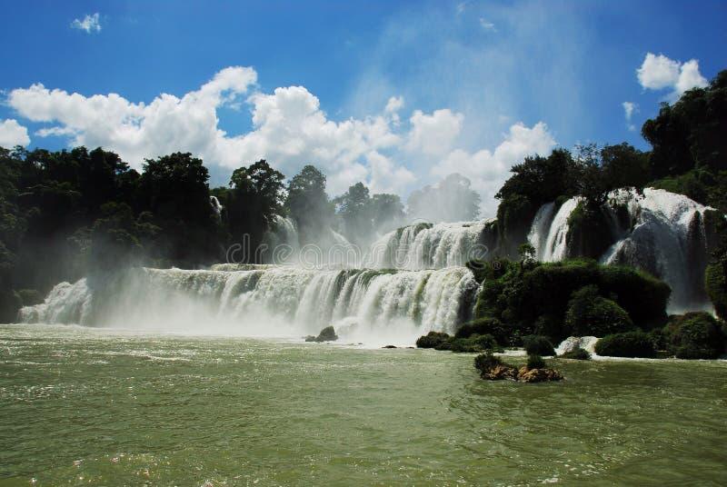 DeTian Wasserfall stockbilder