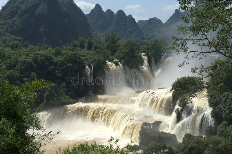 Detian Waterfall stock photography