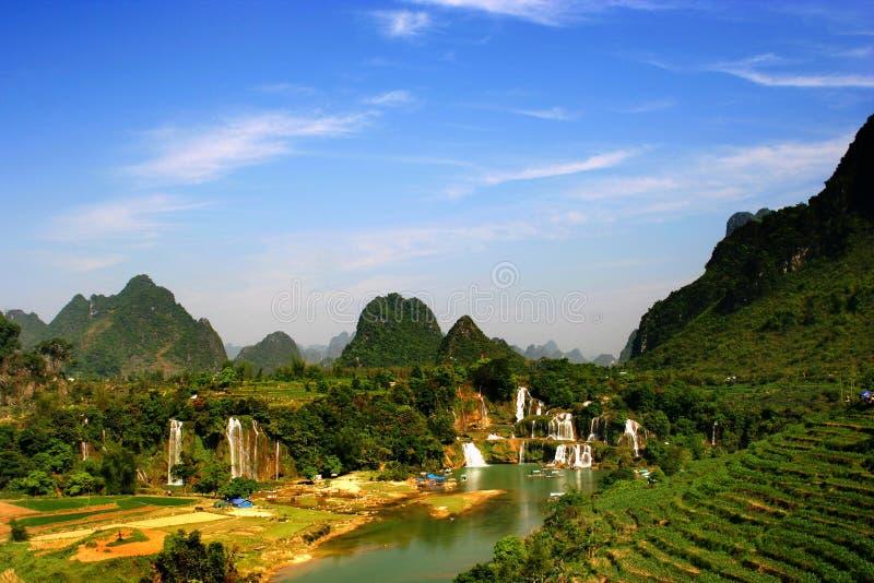 Detian Waterfall ,Guangxi, China stock photo