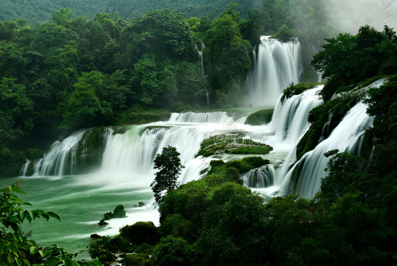Detian waterfall royalty free stock photos