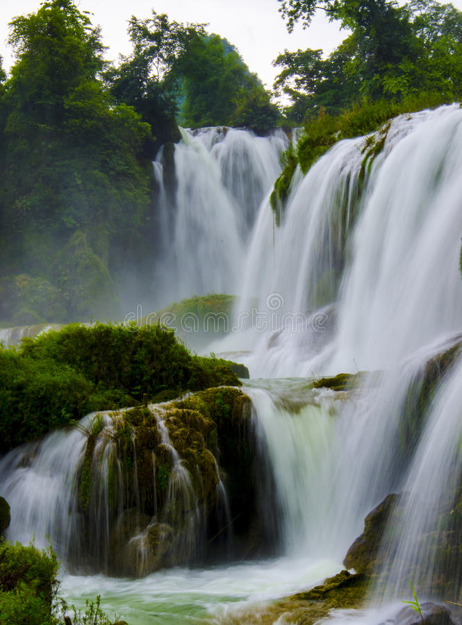 Detian waterfall royalty free stock photos