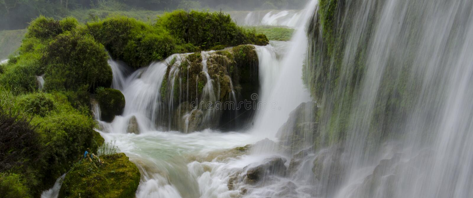 Detian waterfall stock images